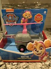 Paw Patrol Helicopter Vehicle SKYE Figure Moving Propeller - NEW