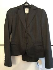 S. Oliver S.oliver Anzug Jacket Hose Jacke Gürtel grau weiß Größe 34 NEU