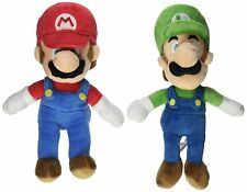 "Sanei Little Buddy Super Mario Plush Doll Set of 2 - 8"" Mario and Luigi"