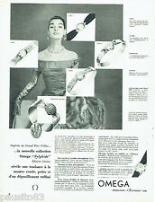 PUBLICITE ADVERTISING 016  1955   OMEGA  montre Sylphide