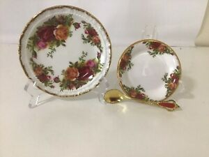 Royal Albert Old Country Roses Coaster + Butter Patte With Unused Spreader