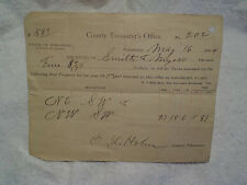 1904 PROPERTY TAX RECEIPT COUNTY TREASURERS OFFICE ADAMS WISCONSIN,Smith myers