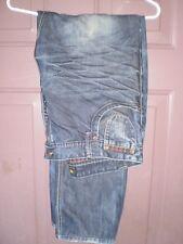 Salsa 1st Level Distressed Highland Devil Slim Denim Jeans Sz 36