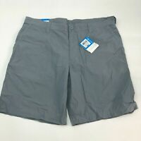 NWT Columbia Chino Shorts Mens 40 Gray Flat Front 100% Cotton Slash Pockets