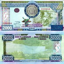 Burundi P-47 2000 Francs 2008 Note Hologram - Scarce Zz Prefix Replacement Unc!