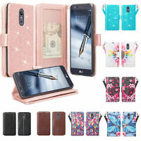 For LG Stylo 4| 4 Plus| Q Stylus | PU Leather Wallet Phone Case Cover Flip Stand