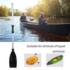 Aluminium Alloy Detachable Lightweight Ribbed Blade Kayak Paddles Boat Oars 2Pcs