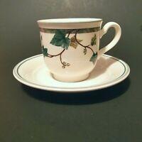 Noritake Keltcraft Cup and Saucer Set IVY LANE Porcelain 9180 Ireland