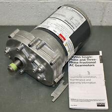 Damaged Dayton Ac Parallel Shaft Electric Gear Motor 1lpp2 14 Hp 115v 60rpm