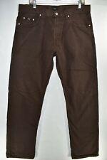 Hugo Boss Jacksons Straight Leg Jeans Mens Size 36x34 Brown Meas. 36x34.5 Dark