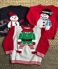 * Bundle of 3 Christmas jumpers boys girls age 2 - 3 *