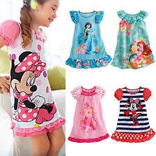 686a0b895e Bambine Cartone Animato Estate Camicia da Notte Pigiami Vestito Casual