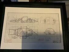 Limitierter ARTprint Porsche 906 Konstruktionszeichnung