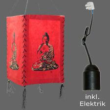 Lampe aus Lokta Papier inkl. Elektrik - Papierleuchte Buddha Orissa Nepal Lampe