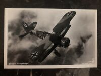 1939 Berlin Germany RPPC Postcard Cover Domestic Air Force Biplane