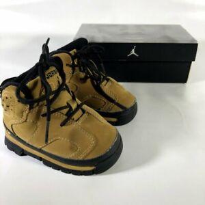 Baby Jordan AJB 6 304145-701 Brown Suede Boots Hi-Top Shoes Kid Boys 4C w/ Box