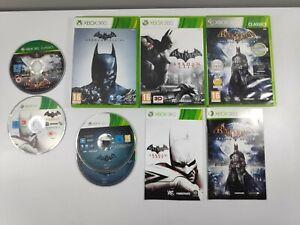 Lot 3 jeux Batman Xbox 360 Arkham Origins City Asylum