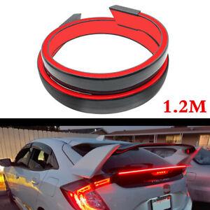1.2M Car Rear Wing Lip Spoiler LED Light Tail Trunk Roof Trim Sticker GlossBlack