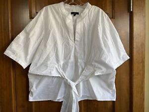 J Crew White Cotton Shirt Size L Large