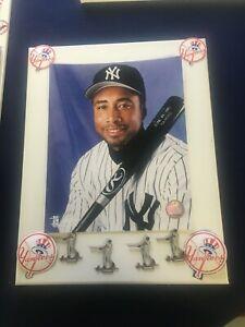 Bernie Williams Portrait Photo and (4) Bernie swinging pins, Yankee stickers