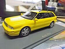 AUDI S2 RS2 Avant 80 Quattro Kombi Porsche yellow gelb 1994 NEO Resin 1:43