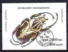 Animaux Insectes Madagascar (22) bloc oblitéré