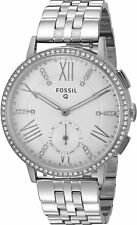 NWT Fossil Q Women's Gazer Stainless Steel Hybrid Smart Watch 41MM FTW1105