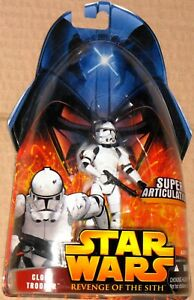 Star Wars Revenge Of The Sith ROTS Hasbro #41 CLONE TROOPER action figure MOSC