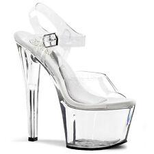 Pleaser Tesoro-Zapatos de baile 708 Polo Claro con Hebilla Correa