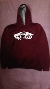 Vans Off The Wall Mens Hoodie Pullover Burgundy, Size M