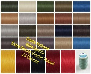 Coats Nylbond - Extra Strong Bonded Sewing Thread - 60m Spool - 27 Colours