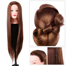 24inch Mannequin Head Hairdresser Training Head Cosmetology Doll Head Brown GW