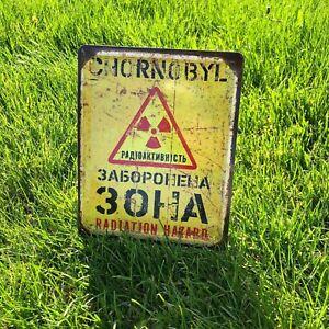 Chernobyl zone sign Radiation sign Chernobyl stalker Warning sign Danger sign