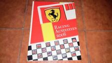 Ferrari Racing Activities 2006 Yearbook Yearbook Schumacher Formula 1 F1