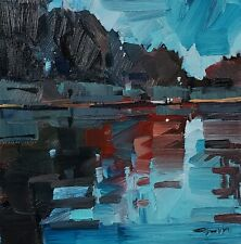 JOSE TRUJILLO Oil Painting IMPRESSIONISM 12X12 COLLECTIBLE FINE ART RIVER SIGNED