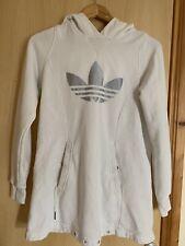 Adidas Longline Cream Hoody Hooded Jumper Size 10