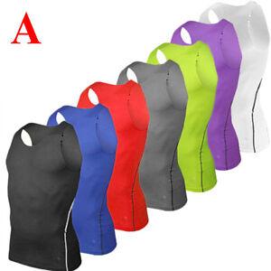 Men Compression Fitness Tank Top Under Base Layer Sleeveless Vest Sports T Shirt