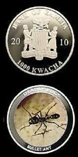 Zambia 2010 Large Color 1000 Kwacha-Deadly Insects-Bullet Ant