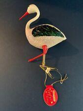 Kathe Wohlfahrt Glass Swan Christmas Ornament Germany