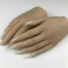 Female Silicone Practice Hands Nail Art Model Hand Mannequin Nail  Jewely