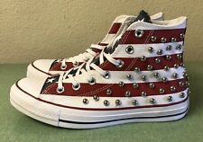 Converse CTAS Hi Top Studded USA Flag Red While Blue 160994C Women's Sz 8 NEW!!!