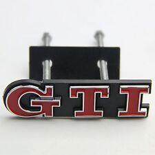Red GTI Badge Front Grille Grill Car Emblem Logo for VW Golf Polo Passat MK4 MK5