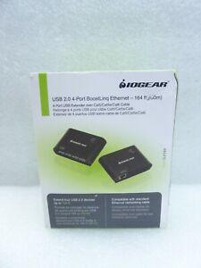 IOGEAR GUCE64 USB 2.0 4-Port BoostLinq Ethernet 164 Feet Compliant