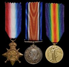 WW1 1914-15 Star Medal Trio MITCHELL 1/6th Bn Argyll and Sutherland Highlanders