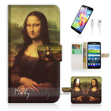 ( For Samsung S5 ) Wallet Case Cover PB10140 Mona Lisa