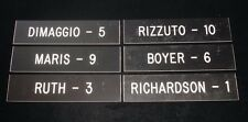 Lot of (6) Different NY Yankees Greats Nameplate incl. Ruth Maris DiMaggio Boyer