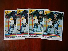 CURTIS JOSEPH 1990-91 PANINI HOCKEY STICKERS #272 LOT OF (4)