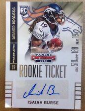 2014 Panini Contenders #196A Isaiah Burse Autograph RC!! Broncos!!