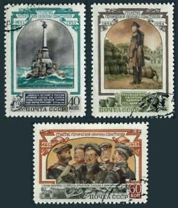 Russia 1726-1728,CTO.Michel 1728-1730. Defense of Sevastopol-Crimean War.1954.