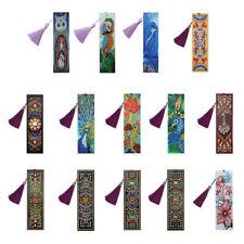 DIY Bookmark 5D Diamond Painting Art Cross Stitch Tassel Craft Multi Pattern